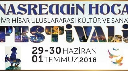 2018 uluslararasi nasreddin hoca festivali 414x232 - Uluslararası Nasreddin Hoca Kültür ve Sanat Festivali