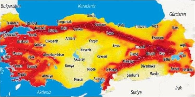 2020 deprem risk haritası - Deprem Risk Haritası ve Erzincan