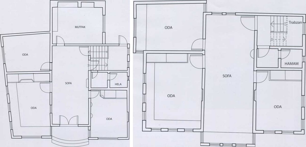 anci evi plan - Türkay Konağı (Ancılar Evi)