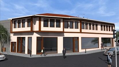 bina maket cizim - Dernek Binası İnşaatı