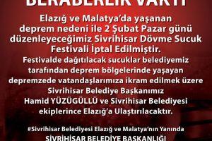 festival iptal 300x200 - Sucuk Festivali İptal Edildi