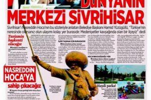 gazetelerde sivrihisar 300x200 - Medeniyetler Kavşağında Sivrihisar