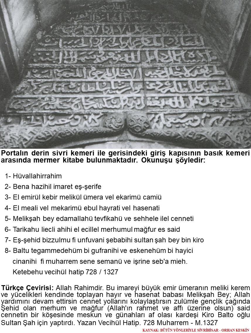 kumbet kitabe - Tarihi Kümbet
