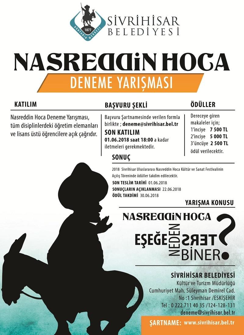 nasreddin hoca deneme yarismasi - Nasreddin Hoca Deneme Yarışması