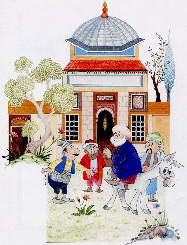 nasreddin hoca minyatur esege ters binmek - Stories from Nasreddin Hodja