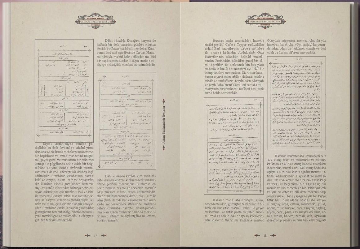 osmanli belgelerinde sivrihisar ic - Osmanlı Belgelerinde Dünyanın Merkezi Sivrihisar
