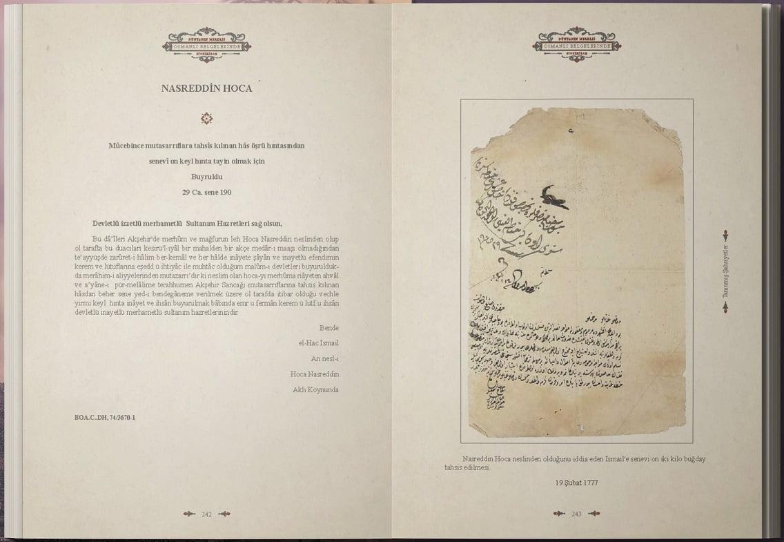 osmanli belgelerinde sivrihisar nasrettin hoca - Osmanlı Belgelerinde Dünyanın Merkezi Sivrihisar