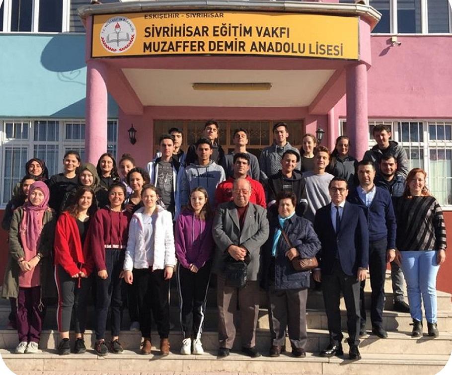 sev bagis - Muzaffer Demir Anadolu Lisesine Anlamlı Bağış