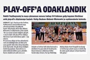 sivrihisar spor play off 300x200 - Play-Off'a Odaklandık