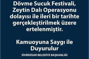 sucuk festivali ertelendi 300x200 - 2018 Sivrihisar Dövme Sucuk Festivali Ertelendi